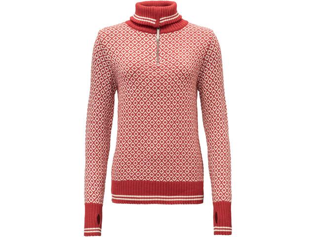 Devold Slogen Sweat-shirt avec col zippé Femme, chilli